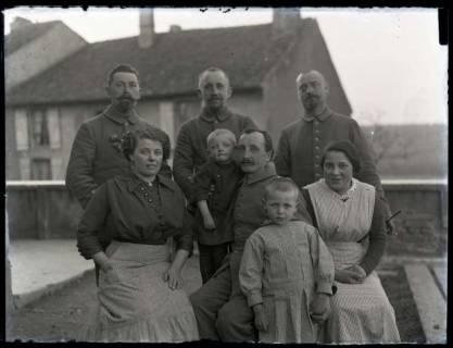 ARH NL Kageler 192, 1. Weltkrieg, Gruppenfoto, Marange-Silvange (Maringen-Silvingen), Frankreich, zwischen 1914/1918