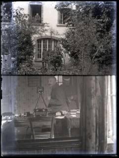 ARH NL Kageler 207, 1. Weltkrieg, Unterkunft und Selbstporträt, Frankreich, zwischen 1914/1918