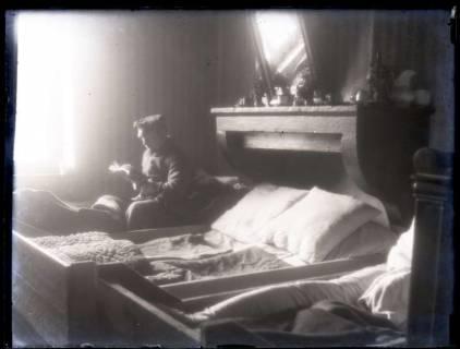 ARH NL Kageler 209, 1. Weltkrieg, Schlafraum in der Unterkunft, Frankreich, zwischen 1914/1918