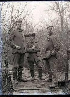 """ARH NL Kageler 238, 1. Weltkrieg, Soldaten """"Der Größte, der Kleinste und der Dickste"""", Frankreich, zwischen 1914/1918"""