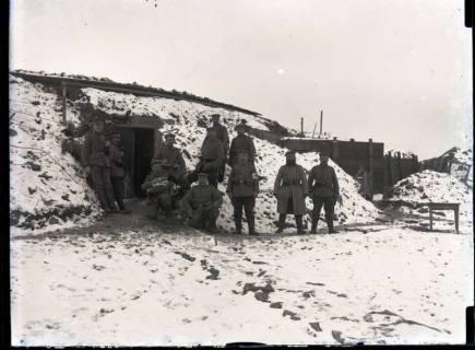 ARH NL Kageler 240, 1. Weltkrieg, Eingang zur Stellung, Abaucourt, Frankreich, zwischen 1914/1918
