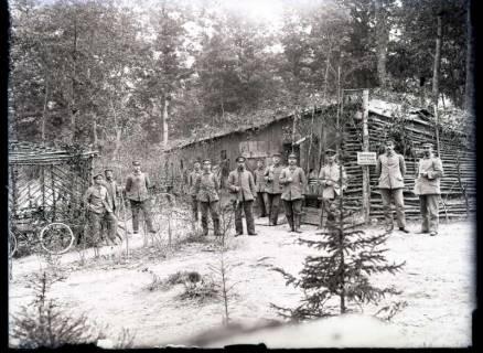 ARH NL Kageler 269, 1. Weltkrieg, Schreibstube der 2. Kompanie, Frankreich, zwischen 1914/1918