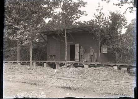 ARH NL Kageler 273, 1. Weltkrieg, provisorischer Bahnhof, Frankreich, zwischen 1914/1918