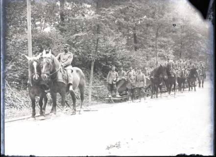 ARH NL Kageler 274, 1. Weltkrieg, mit Pferden betriebene Lorenbahn, Frankreich, zwischen 1914/1918
