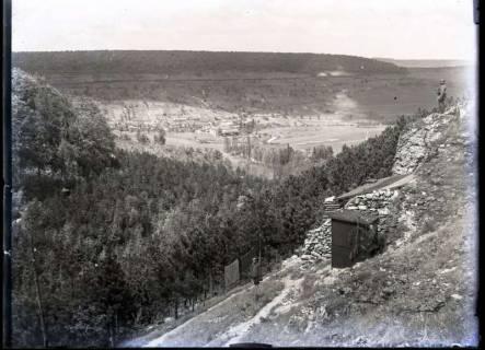 ARH NL Kageler 281, 1. Weltkrieg, militärische Stellung mit Blick auf Tal, Frankreich, zwischen 1914/1918