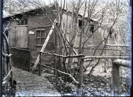 ARH NL Kageler 306, 1. Weltkrieg, Baracke im Wald, Bois des Rays, Frankreich, zwischen 1914/1918