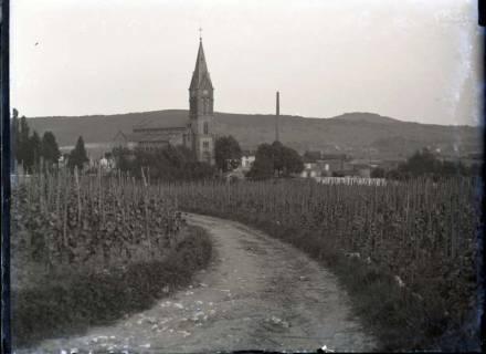 ARH NL Kageler 310, 1. Weltkrieg, Blick auf Ars-sur-Moselle, Frankreich, zwischen 1914/1918