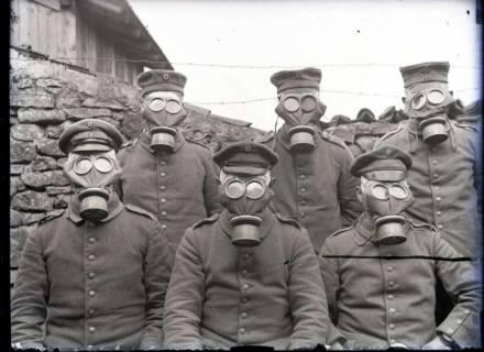 ARH NL Kageler 328, 1. Weltkrieg, ABC-Schutzmasken, Solgne, Frankreich, zwischen 1914/1918