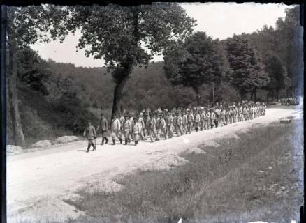 ARH NL Kageler 338,  1. Weltkrieg, Rückkehr vom Befestigungsgräben ausheben, Frankreich, zwischen 1914/1918