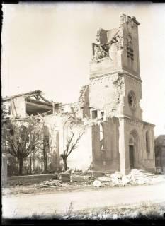 ARH NL Kageler 346, 1. Weltkrieg, Kirche in Abaucourt, Frankreich, zwischen 1914/1918