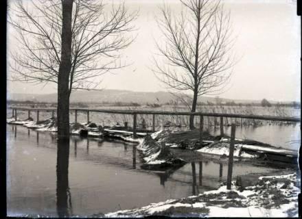 ARH NL Kageler 365, 1. Weltkrieg, Steg über Hochwasser, Frankreich, zwischen 1914/1918