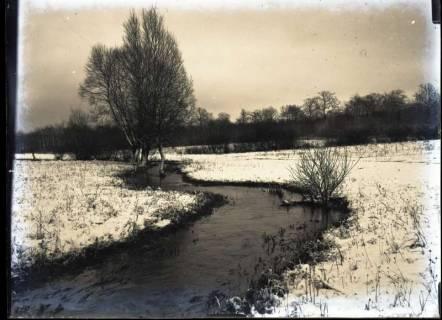 ARH NL Kageler 379, 1. Weltkrieg, Flußlauf im Winter, Frankreich, zwischen 1914/1918