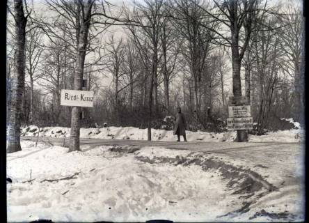 ARH NL Kageler 384, 1. Weltkrieg, Ornièrs Weg mit Riedl-Kreuz, Frankreich, zwischen 1914/1918