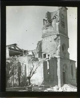 ARH NL Kageler 445, 1. Weltkrieg, Kirche in Abaucourt, Frankreich, zwischen 1914/1918