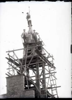 ARH NL Kageler 468, Instandsetzungsarbeiten am Glockenturm, Gehrden, vor 1914