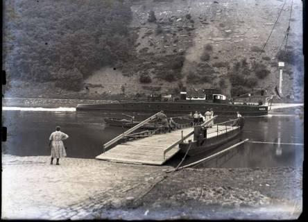 ARH NL Kageler 490, Fähre im Weserbergland, um 1914