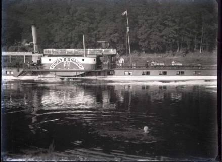 ARH NL Kageler 491, Raddampfer auf der Weser, wohl 1914