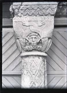 ARH NL Kageler 519, Säulenkapitell am Dom, Goslar, 1913