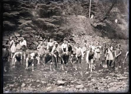ARH NL Kageler 543, Gruppenaufnahme bei Wanderung durch das Bodetal, Thale, 1913