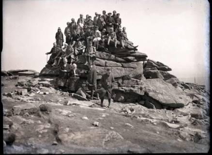 ARH NL Kageler 544, Gruppenaufnahme auf der Teufelskanzel, Brocken, 1913