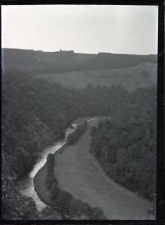 """ARH NL Kageler 558, Blick vom Aussichtspunkt """"Krügerslust"""" in das Bodetal im Harz, zwischen 1914/1918"""
