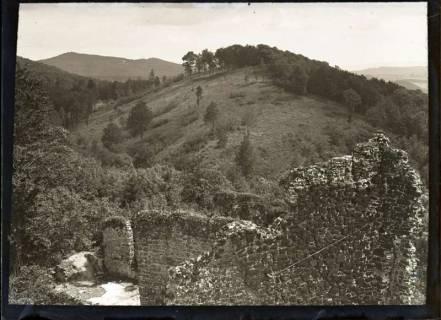 ARH NL Kageler 565, Ruine Hohenstein, Blick vom Turm, Landkreis Hameln-Pyrmont, 1913