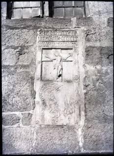 ARH NL Kageler 735, Gotischer Grabstein, Hohenbostel, 1940