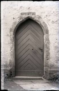 ARH NL Kageler 805, Gotische Tür an Kirche, Stemmen, 1940