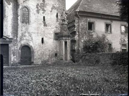 ARH NL Kageler 861, Ältester Turmteil am Schloss Corvey, Höxter, ohne Datum