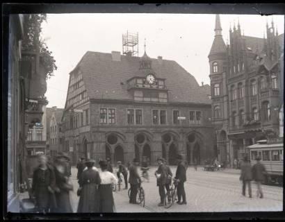 ARH NL Kageler 1040, Marktplatz und Rathaus, Minden, vor 1945