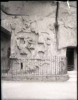 ARH NL Kageler 1107, Steinfresko der Kreuzabnahme an den Externsteinen, Detmold, ohne Datum