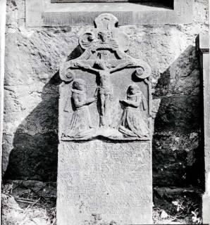 ARH NL Kageler 1258, Bildnisgrabstein 17. Jh., Hohenbostel, 1940