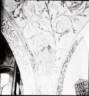 ARH NL Kageler 1265, Deckenmalerei in Kirche, Leveste, um 1940
