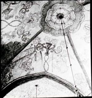 ARH NL Kageler 1266, Deckenmalerei in Kirche, Leveste, um 1940