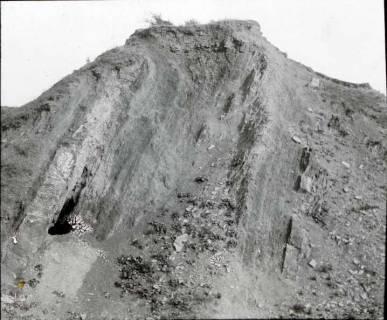 ARH NL Kageler 1287, Straßendurchbruch, steile Schichten, Stemmer Berg, 1940