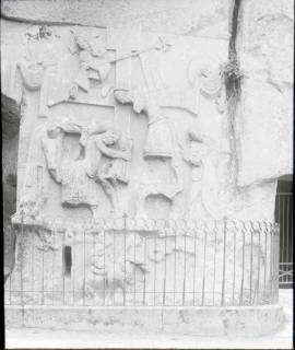 ARH NL Kageler 1322, Steinfresko der Kreuzabnahme an den Externsteinen, Detmold, ohne Datum