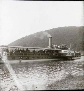 ARH NL Kageler 1347, Schaufelraddampfer auf der Weser, ohne Datum