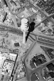 ARH NL Koberg 5, Fernmeldeturm und Paketpostamt im Bau, Hannover, 1959