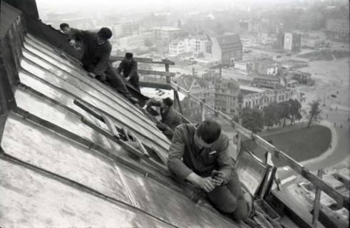 ARH NL Koberg 614, Reparatur der Rathauskuppel, Hannover, 1949