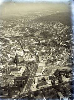 ARH NL Koberg 85, Leineschloss, Karmaschstraße und Marktkirche, Hannover, 1957