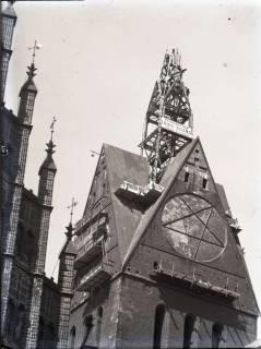ARH NL Koberg 100, Rekonstruktion des beschädigten Turms der Marktkirche, Hannover, um 1952