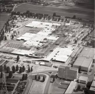 ARH NL Koberg 1138, Neubau einer Messehalle auf dem Messegelände, Hannover, 1969