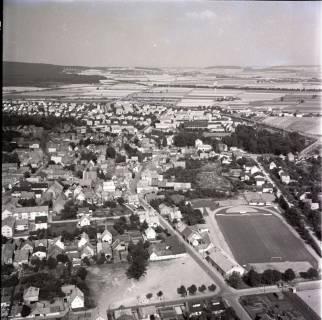 ARH NL Koberg 1321, Stadtgebiet mit Sportplatz, Springe, 1969