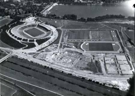 ARH NL Koberg 155, Niedersachsenstadion und Maschsee, Hannover, wohl 1961