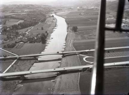 ARH NL Koberg 161, Autobahnbrücke über die Weser bei Vlotho, 1960