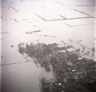 ARH NL Koberg 1629, Leinehochwasser, Leinetal Mandelsloh, Schloß Ricklingen, Seelze, 1970