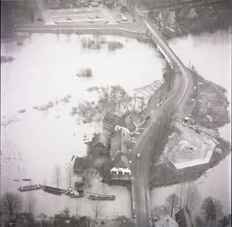 ARH NL Koberg 1630, Leinehochwasser, Leinetal Mandelsloh, Schloß Ricklingen, Seelze, 1970