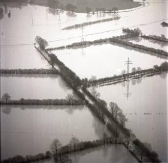 ARH NL Koberg 1633, Leinehochwasser, Leinetal Mandelsloh, Schloß Ricklingen, Seelze, 1970