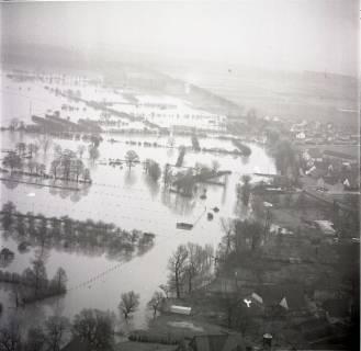 ARH NL Koberg 1634, Leinehochwasser, Leinetal Mandelsloh, Schloß Ricklingen, Seelze, 1970