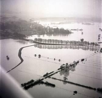 ARH NL Koberg 1635, Leinehochwasser, Leinetal Mandelsloh, Schloß Ricklingen, Seelze, 1970